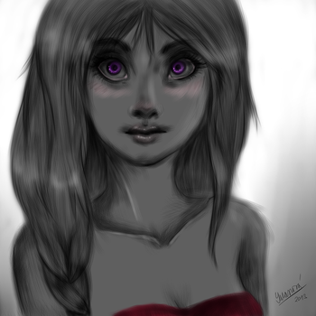 Purple eyes by Ivushe