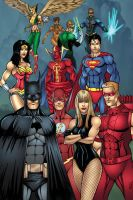 Justice League Color by seanforney