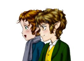 Merry and Pippin color by SapphireGamgee