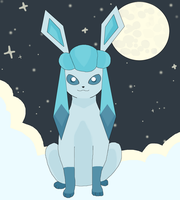 Congratulations! Your Eevee evolved to Glaceon. by kovuification