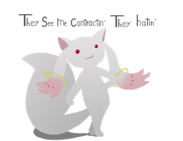Troll Kyubey by GlassesGator