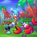 The fast guy from the Sonic the hedgehog series by SenxShine