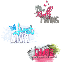 3 Textos PNG by DivasChampionship