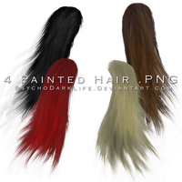 4 Painted Hair in PNG by ObscureLilium