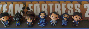 Chibi-Charms: TF2 BLU Team by MandyPandaa