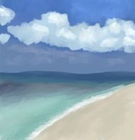A day at the beach by marron
