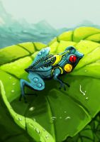 cieltric frog by unded