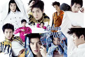 Luhan PNG Pack {Elle China} by kamjong-kai