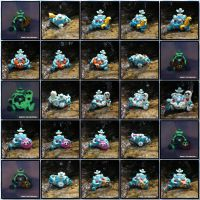Polymer Clay Robots AQUATIC SEA ROBOTS by KIMMIESCLAYKREATIONS