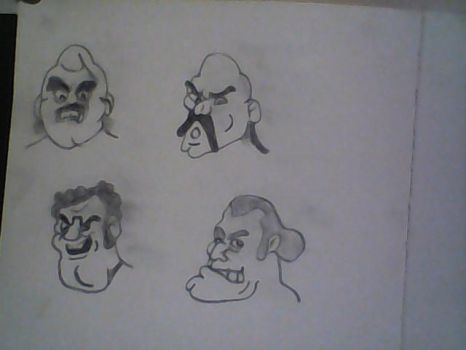Mike Tyson's Punch Out!! Characters 3 by bigboldbully