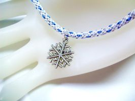 Snowflake Kumihimo Friendship Bracelet by QuietMischief
