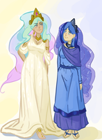 MLP: Human Princesses, Pt. I by BellaCielo