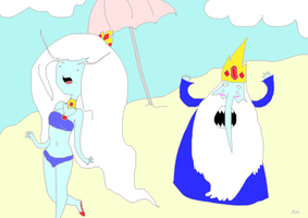 Ice Queen + Ice King by slothbooty