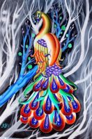 Creepy peacock by lovely-girl-92
