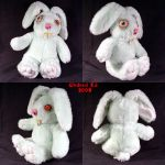 Rudieda Rabbit Ooak Plush doll by Undead-Art