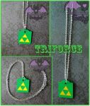Triforce Zelda Link Pendant by Hatter2theHare