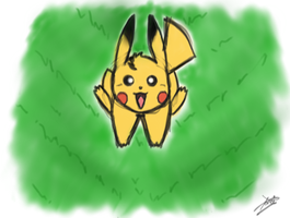 Pikachuuu by NightWolfLover