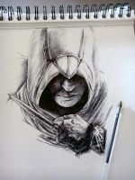 Incomplete Altair part 2 - ballpoint pen by Musiriam