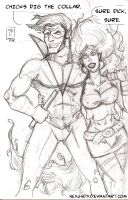 Nightwing DSC and Starfire by NexusDX