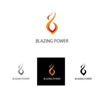 Blazing Power Logo by ifrahmateenART