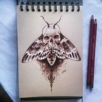 Instaart - Acherontia lachesis by Candra