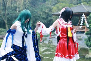 touhou Project  blue and red 4 by shuichimeryl