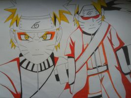 Naruto in Sage Mode. by IrishRickmaniac