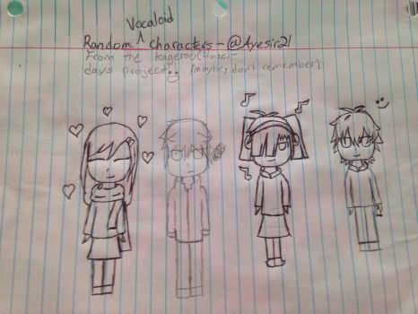 Random vocaloid characters  by Ayesir21