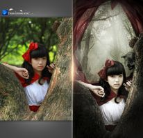 Red Riding Hood II Before and After by Hoangvanvan