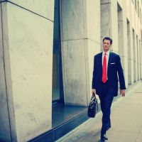 Man With A Red Tie by jonniedee