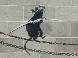 Banksy in Detroit by AiidoneusStyx
