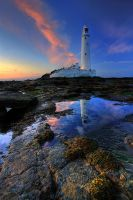 Evening at the lighthouse by AngiWallace