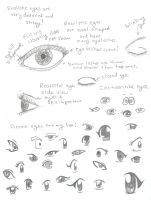 Basic Eye Anatomy and examples by Tblondie1826