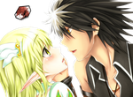 Elsword Rena and Raven pre-kiss by OneExisting