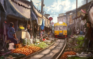 market and train by Nneila
