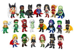 DC Heroes in Gaia style by SithVampireMaster27