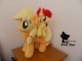 Applejack and Applebloom! :3 by Vegeto-UchihaPortgas