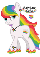 Rainbow Cake : Closed by JewelThePonyLover12