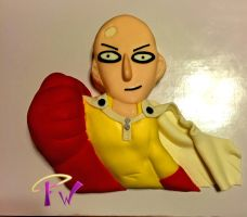 One Punch Man Cake by FaithWalkers