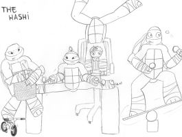 tmnt in a roller coaster by i-love-leo on DeviantArt