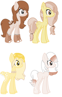 Cereal Pony breeds by VampyGirl890