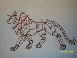 Mechanical Lion by RebelInABox