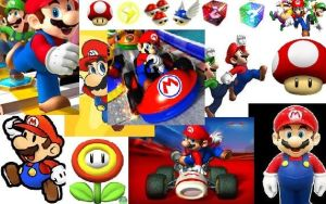 mario collage by buttonsthegreat