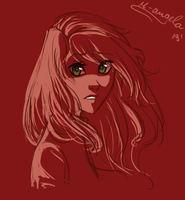 Speed doodle - KP in red again by m-angela