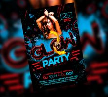Glow Party Flyer by satgur