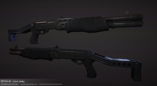 SPAS-12 - Low Poly by DemonLordHakubi