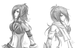 Erza vs Erza by NyammiToast