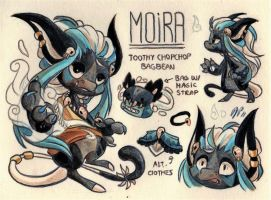 Moira Ref. Sheet [Commission w/ Outfit Design] by Baraayas