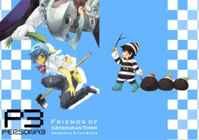 P3: Friends of Gekkoukan Town by limbebe