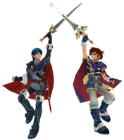 Marth and Roy by war9000